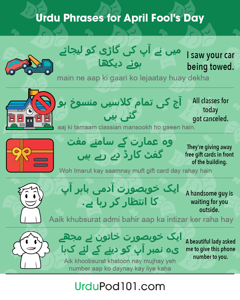Urdu Phrases for April Fools' Day