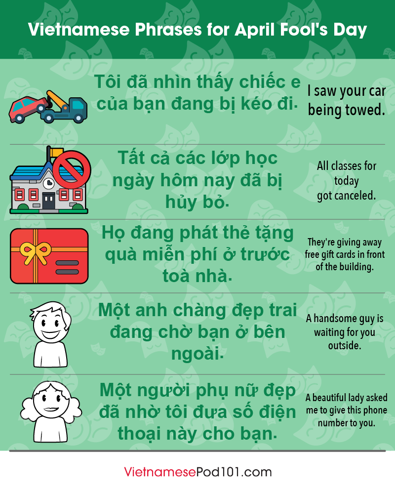 Vietnamese Phrases for April Fools' Day