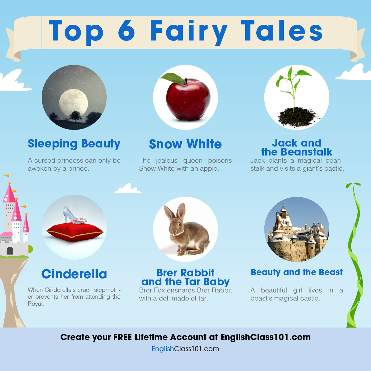 Top 6 Fairy Tales in the United States