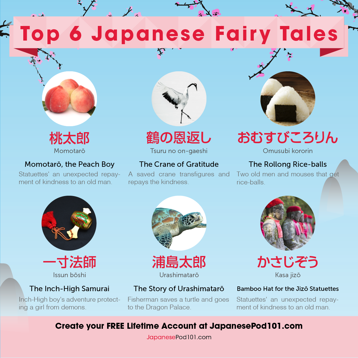 Top 6 Japanese Fairy Tales