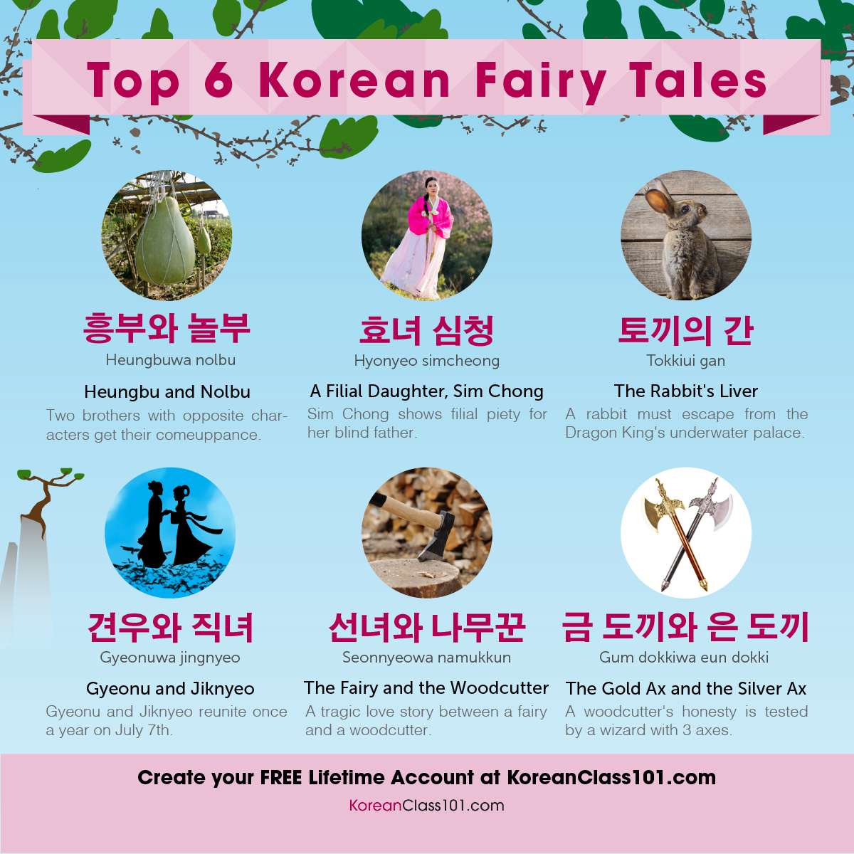 Top 6 Korean Fairy Tales