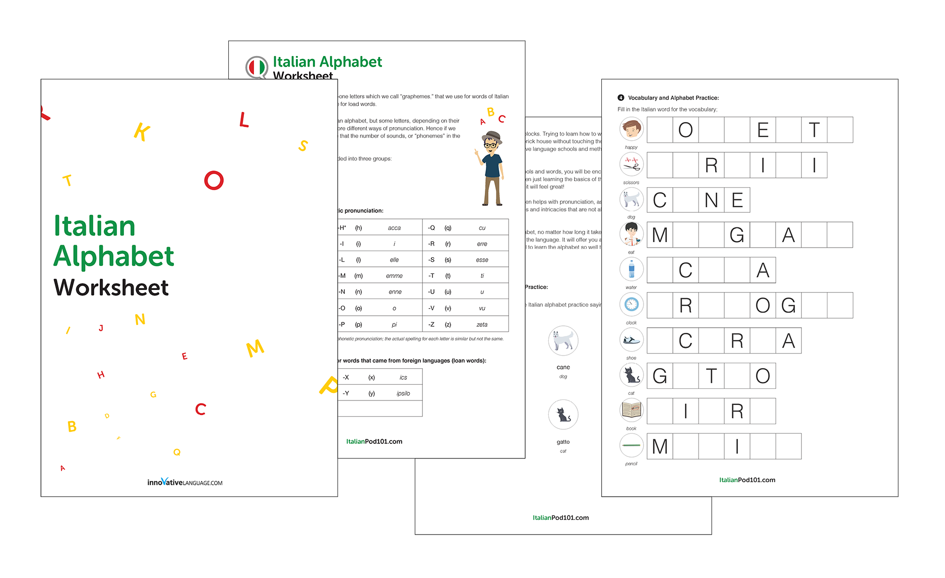 Learn the Italian Alphabet with the Free eBook - ItalianPod101