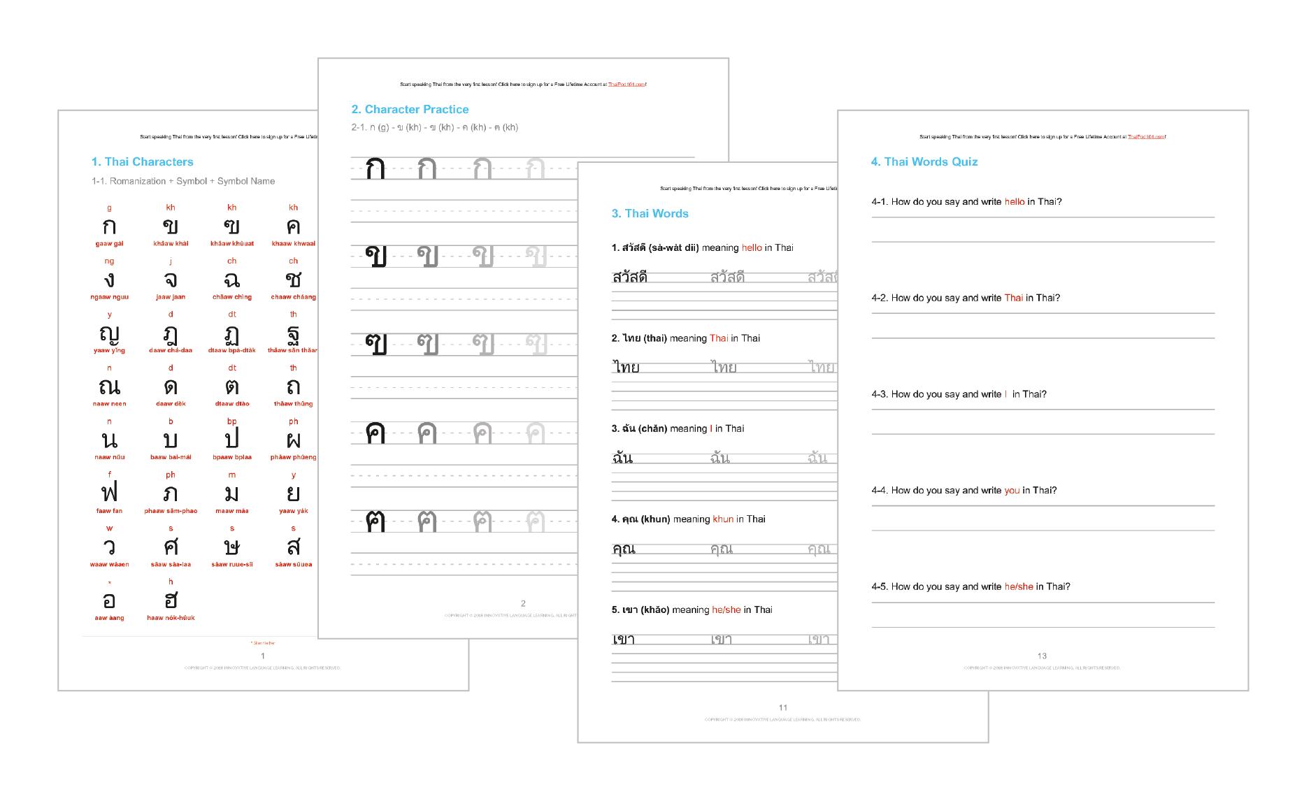 Learn the Thai Alphabet with the FREE eBook - ThaiPod101