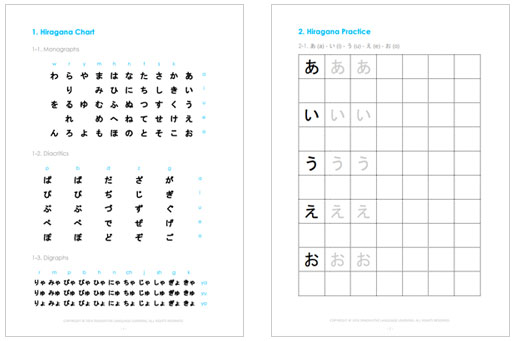 Free Kana PDF Worksheet