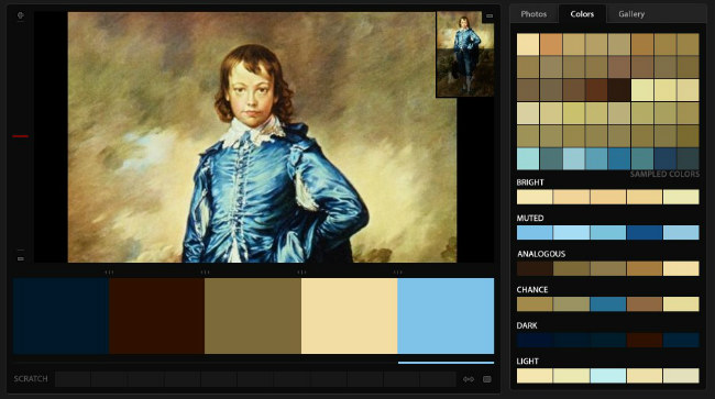 Little Boy Blue - COPA - color palette