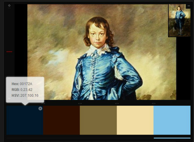 Little Boy Blue color palette with hex color