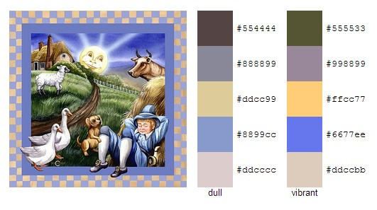 Little Boy Blue - children's book - color palette