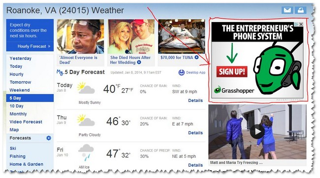 Roanoke Weather - re-marketing ads