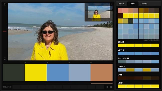 Naples Beach - blue-sky, sand, yellow color palette
