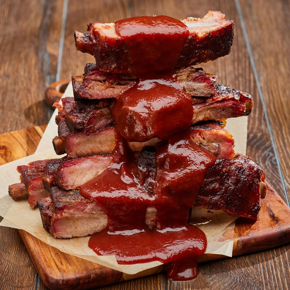 Pork Spare Ribs (Sauced)