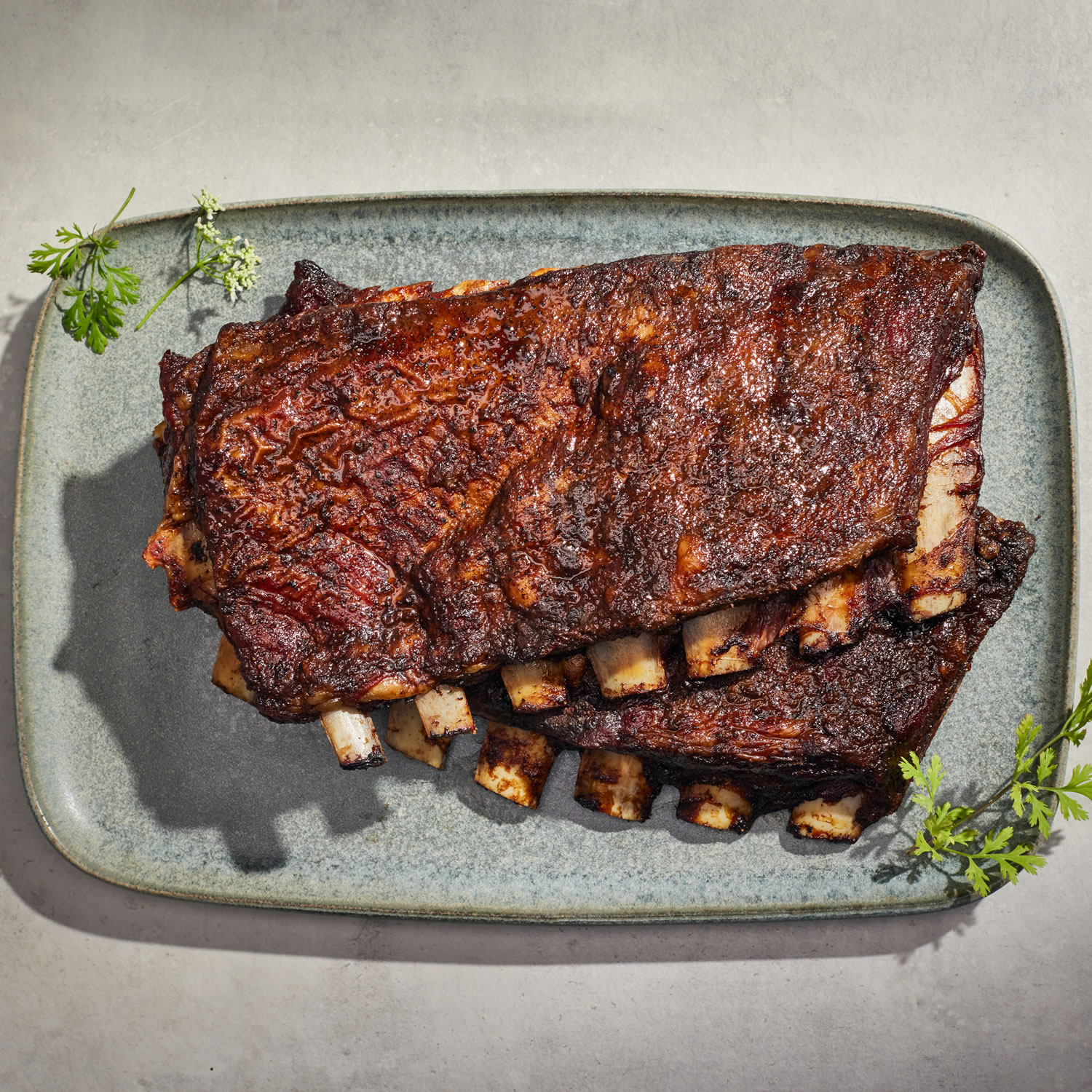 Hickory-Roasted Lamb Ribs