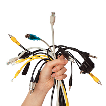 3. Corral your cords.