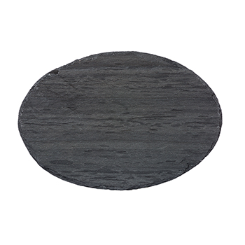 Light Grey Oval Slate Server