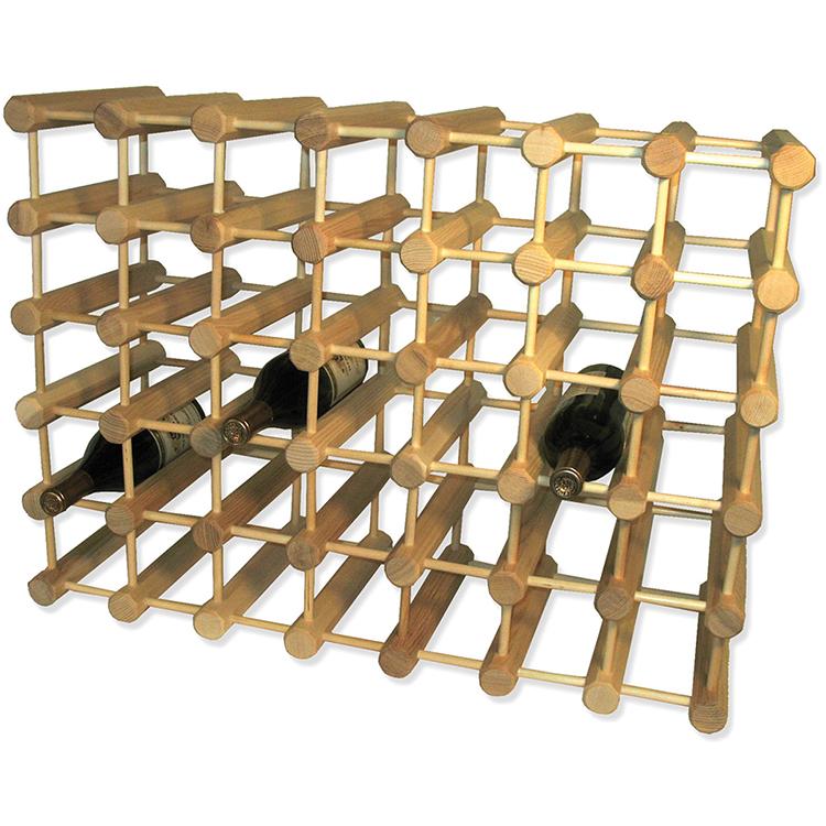 Wooden Ash Modular Wine Rack-40 Bottle