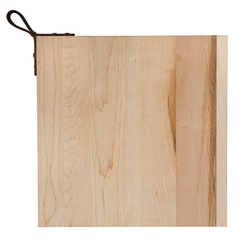 Maple Square Board with Leather Handle