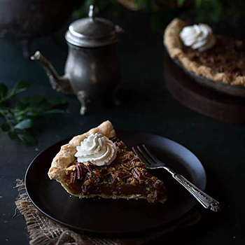 RECIPE: Maple Pecan Pie with Bourbon Whipped Cream