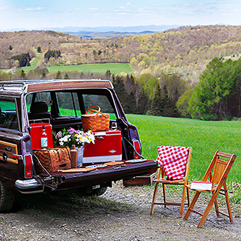 A Spring Tailgate Picnic in Dorset, Vermont
