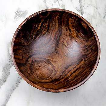 Andrew Pearce Black Walnut Champlain Salad Bowl