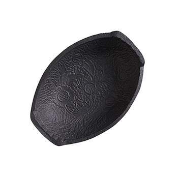 Cast Iron Oval Embossed Bowl
