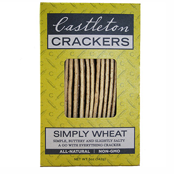 Castleton Crackers' Simply Wheat