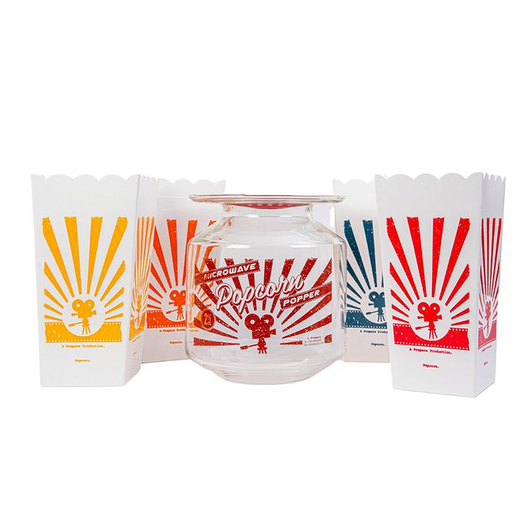 Catamount Glass Popcorn Gift Set