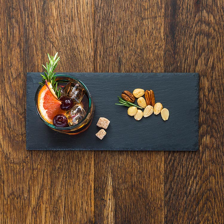 Charcoal Slate Serving Tray