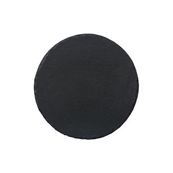 Charcoal Round Slate Server