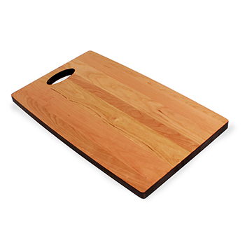 Cherry Cheese Board with single handle side angle