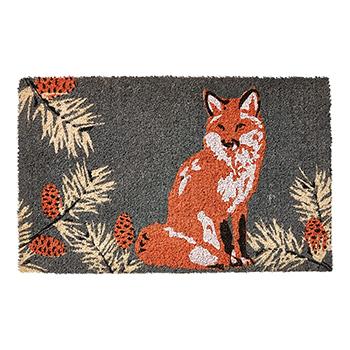 Coir Doormat-Fox & Pinecones - TAG-G14612