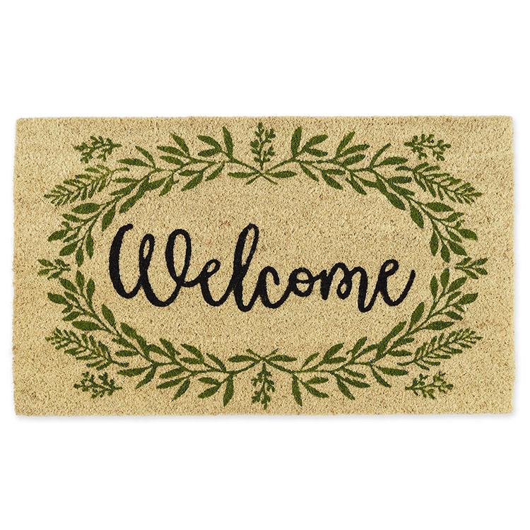 Coir Doormat-Greenery Welcome