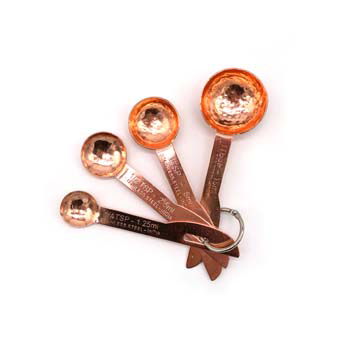 Hammered Copper Finish Measuring Spoons - CB-BMR255
