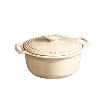 Emile Henry Sublime 6 Qt. Dutch Oven-Cream - EH-564760