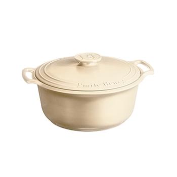 Emile Henry Sublime 7.5 Qt. Dutch Oven-Cream - EH-564770