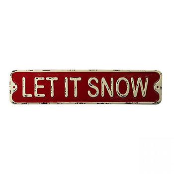 Enamel Sign-Let It Snow - SAD-XB18SBS008