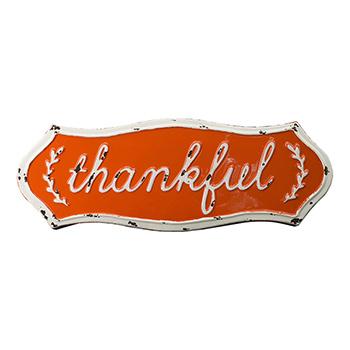 Enamel Sign-Thankful - SAD-HB18SBS013