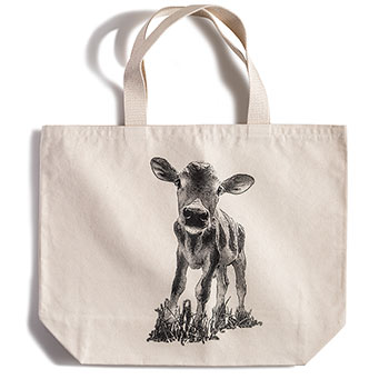 Canvas Tote Bag-Calf