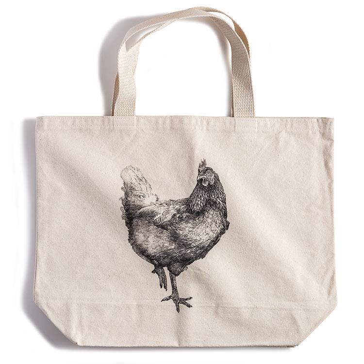 Canvas Tote Bag-Chicken