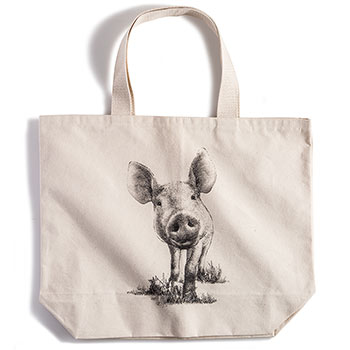 Canvas Tote Bag-Pig