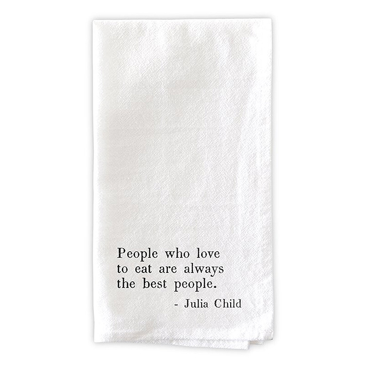Flour Sack Napkins-Julia Child Quote