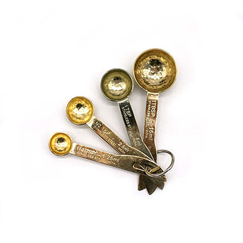 Hammered Gold Finish Measuring Spoons