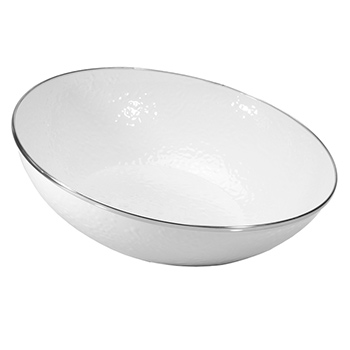 Enamel Catering Bowl-White