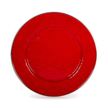 Enamel Dinner Plate-Red