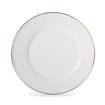 Enamel Dinner Plate-White