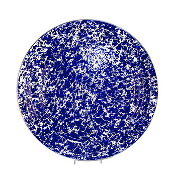 Enamel Medium Tray-Cobalt Swirl