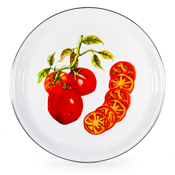 Enamel Medium Tray-Tomato