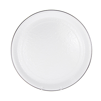 Enamel Medium Tray-White