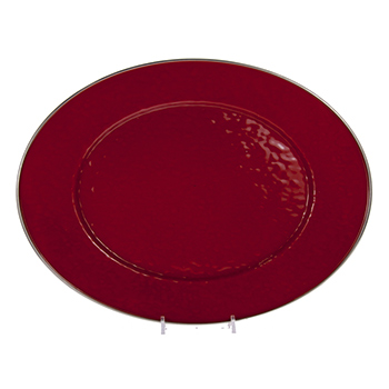 Enamel Oval Platter-Red
