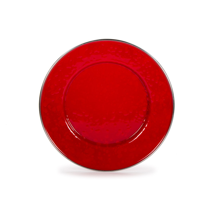 Enamel Sandwich Plate-Red