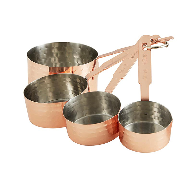 Hammered Copper Finish Measuring Cups