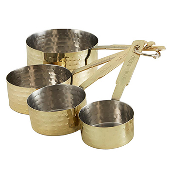 Hammered Gold Finish Measuring Cups